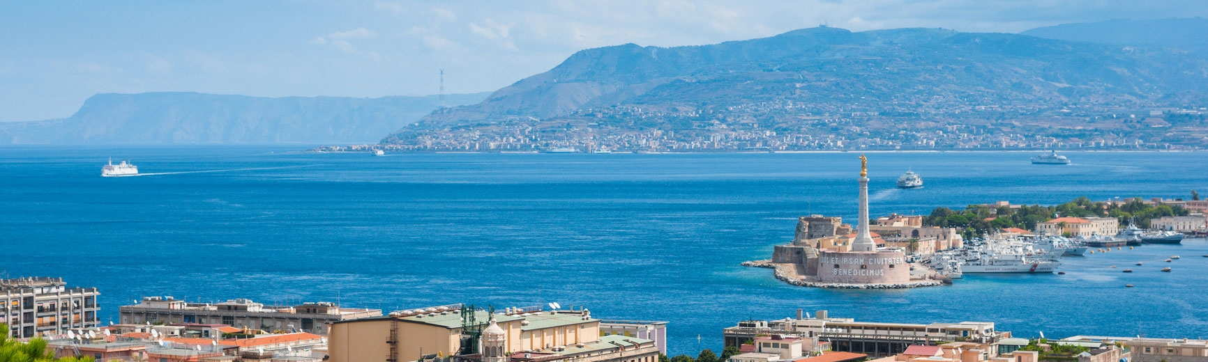 View of the coast in Messina, Sicily.