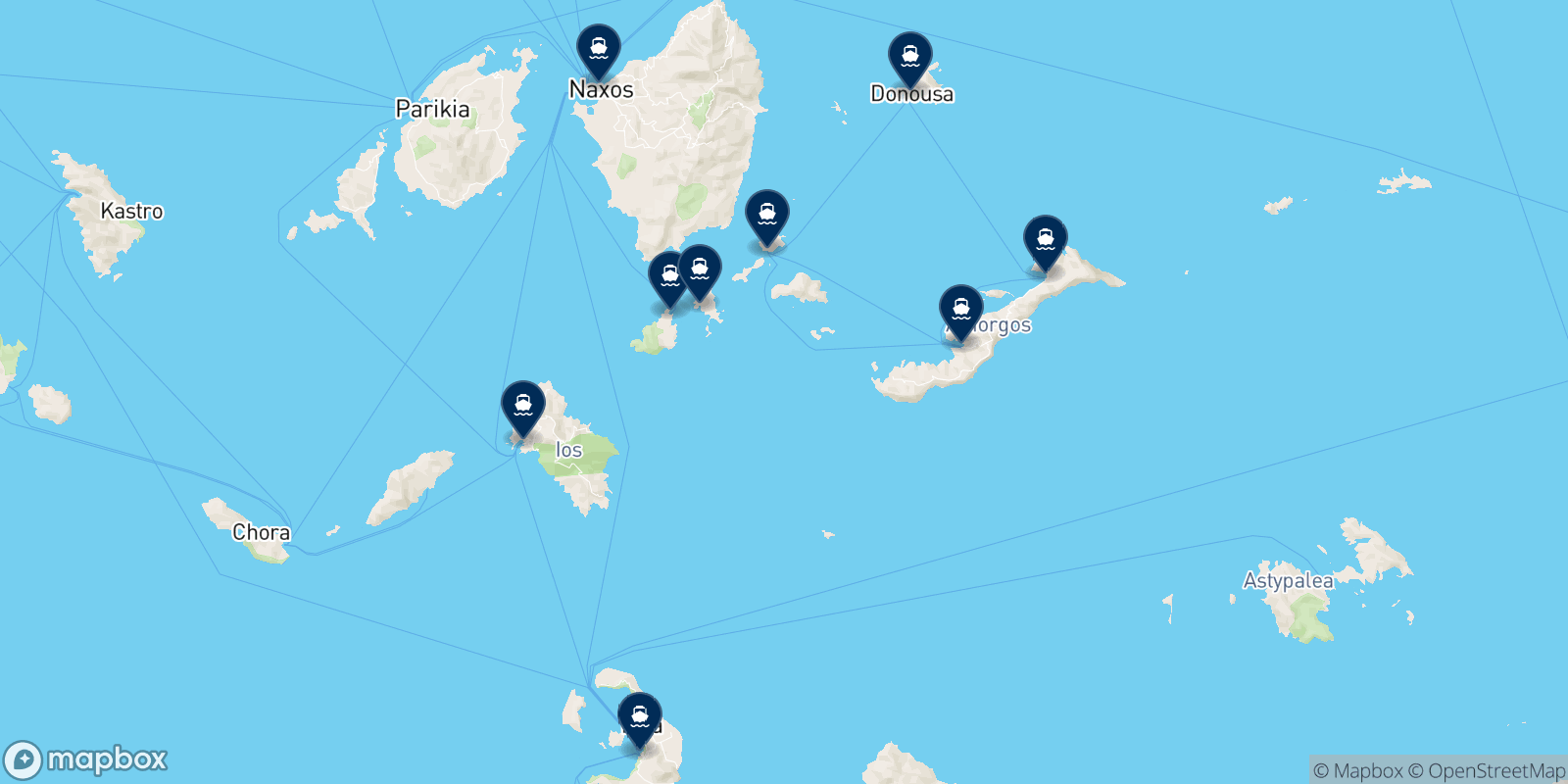 Mikres Kyklades N.e. destination map